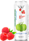 Sparkling coconut water raspberries 330ml