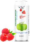 Sparkling coconut water raspberries 500ml
