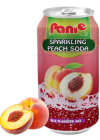 Sparkling peach juice